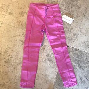 ATHLETA High Rise Hot Pink Capri XS
